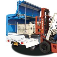 幌つきの軽トラックですが、幌をあげればそのままリフトから積み下ろし可です。