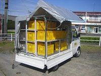 軽トラックに荷物をたっぷり積むお仕事に。頑丈な荷台用幌キットです。