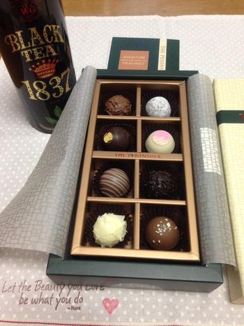 チョコレートのお土産