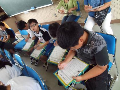 ホタル学校で環境教室!(豊富小学校4年生)