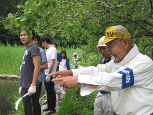 2つの民間企業の参加を得た「ビオトープ」ボランティア活動!