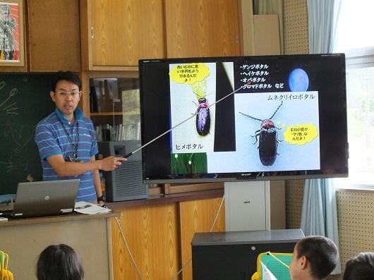ホタル学校で環境教室を開催!豊富小学校1年生・4年生が来校