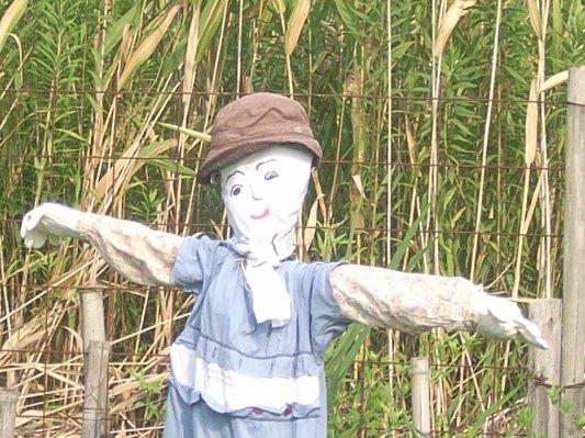 森の田んぼを守るかわいい「かかし」7体が完成!