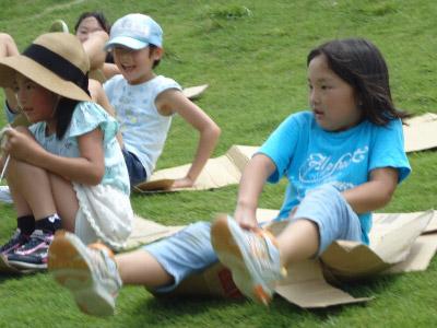 わんParkイベント「芝すべりタイムアタック」を開催しました!
