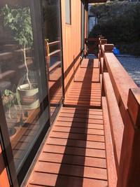 長持ちと安心が一番♪ウリン材のウッドデッキ 自由設計自然素材の家 岡崎市住宅会社スカイグラウンド