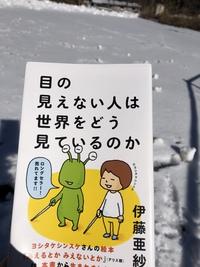 雪の輝きを眺めながら  読書する