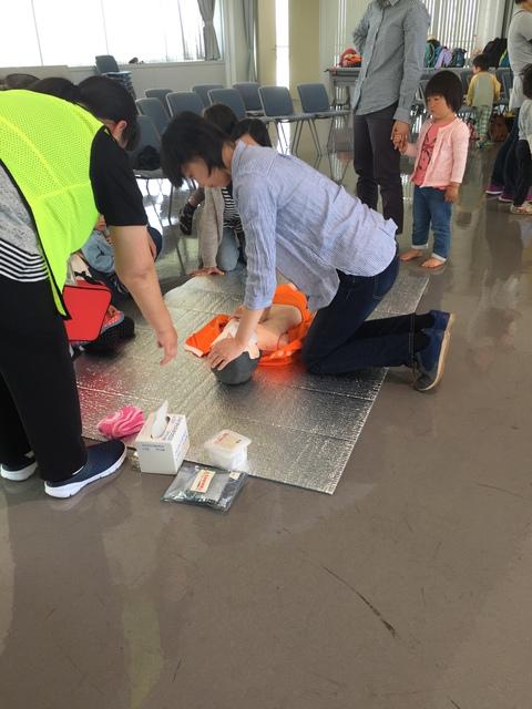 AEDは、こどもでも操作できました。
