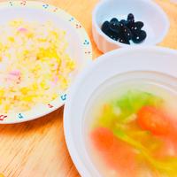 きゅうりのスープと優しいチャーハン。