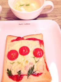 おえかきトースト(✿ฺ◕ฺ‿◕ฺ)ウフッ♥
