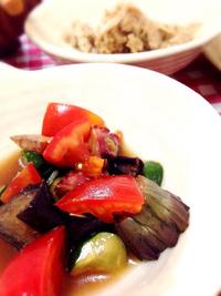 自家製ツナと夏野菜