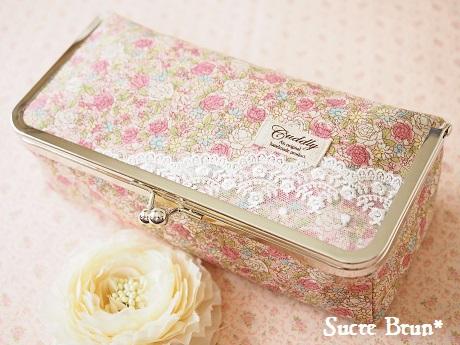 *BOX型がま口完成♪ <YUWA小花柄  ピンク>