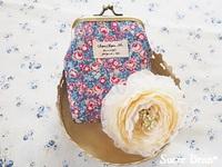 フリマ開催♪と、花柄のがま口カードケース