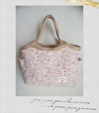 YUWA花柄のバケットバッグ