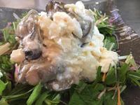 牡蠣の広東風ふわふわミルク炒め