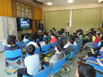 ホタル学校で環境教室!豊富小学校3年生が来校