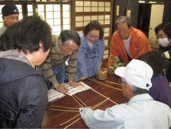 おかざき自然体験の森「竹で編む花かご作り」を開催しました!