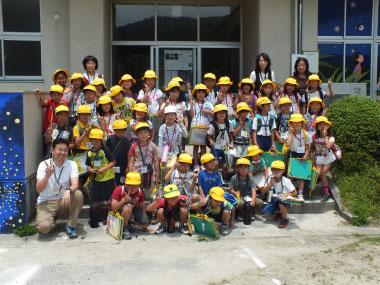 ホタル学校で環境教室(豊富小学校2年生)