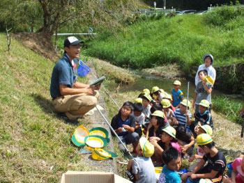 ホタル学校で環境教室!美合小学校4年生が来校