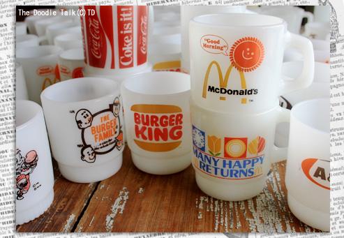 ハンバーガー店のアドマグ