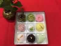 新年の挨拶に和菓子を