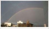 豊田市トヨタ本社から二重虹