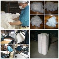 木綿わたの布団。原綿から布団わたを作ります。
