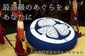 徳川家康 、岡崎市 家康公四百年祭、『将軍座布団』