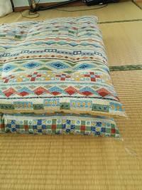 敷き布団を軽く作る。