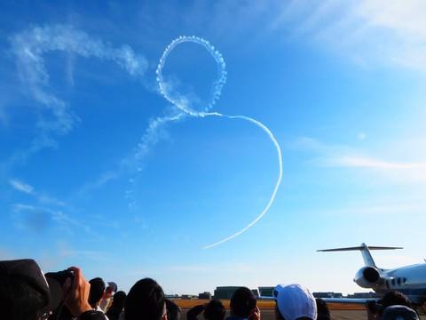 青空に舞う大きな円盤とスモークアートin浜松 その二