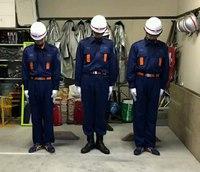 朝4時半に詰所に集合!消防団の操法大会の練習が始まりました。
