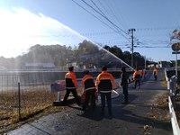 お正月最初のイベントは消防団の出初式!放水訓練付き!
