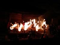 滝山寺の鬼まつりに消防団員として参加しました
