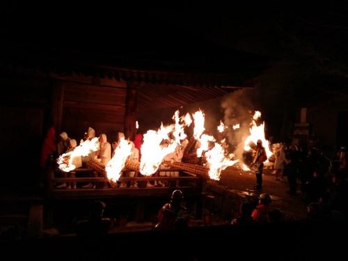 滝山寺 鬼まつり 火まつり