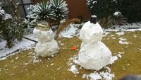 冬の思い出♪楽しい雪だるまづくり