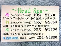 ヘッドスパ ❤︎『クレスト〜鬣〜』