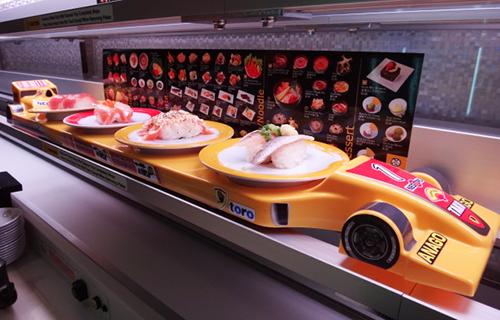 回らない回転寿司で売上好調/元気寿司