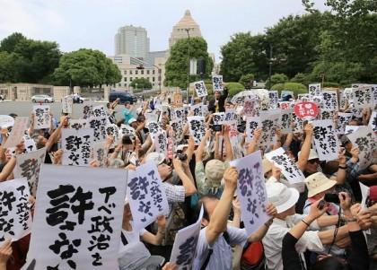 安保法案反対で全国一斉抗議