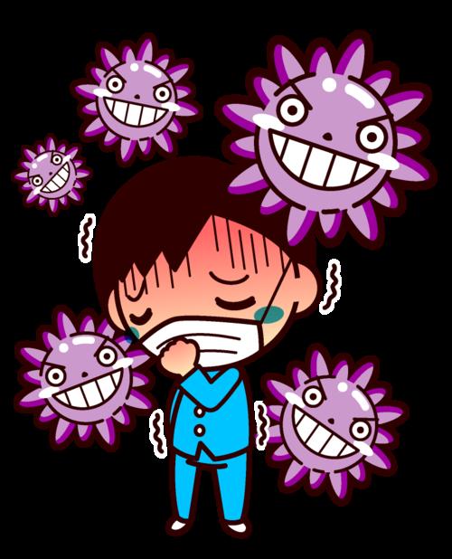 生涯初のインフルエンザに感染