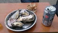 石神さまで焼き牡蠣