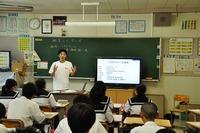 松平中学で食育授業