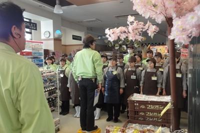 模範朝礼/スーパーやまのぶ梅坪店