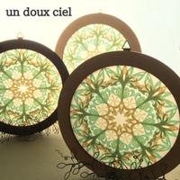 un doux ciel オリジナル図案のローズウインドウ オーダー制作品♪