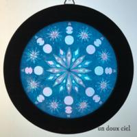 雪だるまローズウィンドウで冬のワクワク気分UP♪ワークショップで好きな色で作れます♪