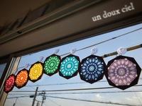 3/1 cafeくろねこさん おまかせランチ付ワークショップはun doux ciel オリジナル折鶴ローズウィンドウ♪
