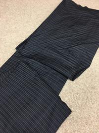 岡崎市 M様 男物 紬 洗い張り 羽織へ仕立て替え パールトーン加工