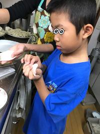 孫のお誕生日  餃子  固めしっかりブレンド米  バーミキュラでご飯