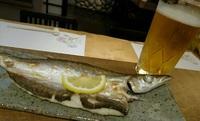 かますの塩焼きに生ビールは合います! 2017/06/22 17:20:00