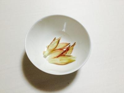 旬の一品「秋みょうがの卵とじ」