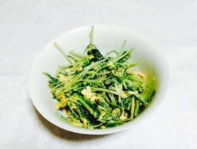 水菜で手間なし一品料理