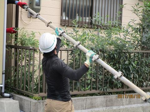 外壁塗装工事~足場解体~ ガイソー豊田店